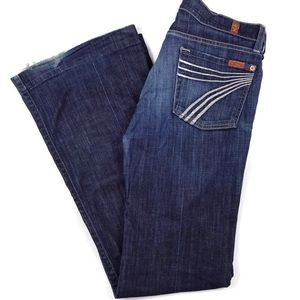 7 for All Mankind Dojo Denim Jeans in NY Dark